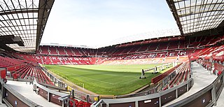 Old Trafford football stadium in Manchester, England