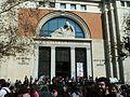 Manifestació del 29 de febrer davant la facultat de Medicina, València.JPG