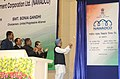 Manmohan Singh unveiling the plaque to inaugurate the newly established National Waqf Development Corporation (NAWADCO) Ltd., in New Delhi. The Chairperson, National Advisory Council, Smt. Sonia Gandhi.jpg