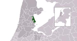 Edam-Volendam - Image: Map NL Municipality code 0385 (2016)