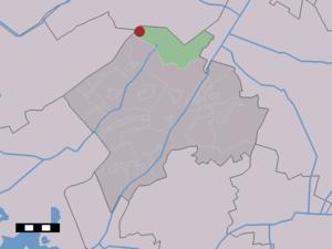 Zorgvlied - Image: Map NL Westerveld Zorgvlied