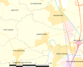 Mapa obce Lampertheim