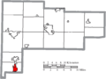 Map of Auglaize County Ohio Highlighting Minster Village.png