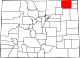 Map of Colorado highlighting Logan County.svg