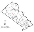 Map of Dublin, Bucks County, Pennsylvania Highlighted.png