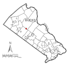 Map of Dublin, Bucks County, Pennsylvania Highlighted.png