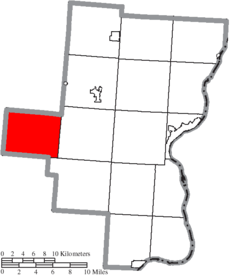 Location of Greenfield Township in Gallia County