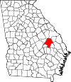 Map of Georgia highlighting Emanuel County.svg