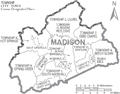 Map of Madison County North Carolina With Municipal and Township Labels.PNG