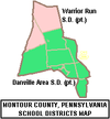 Map of Montour County Pennsylvania School Districts.png