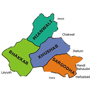 Bhakkar - Image: Map of Sargodha Division