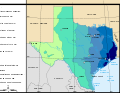 Map of Texas precipitations.svg