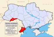 Map of Ukraine political Moldavia