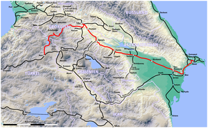 Map of the Kars-Akhalkalaki-Tbilisi-Baku railway.png