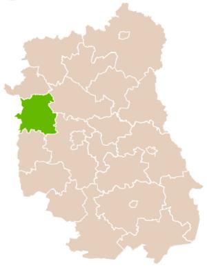 Puławy County - Image: Mapa Pow Puławski