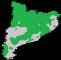 Mapa de distribució del cabirol a Catalunya.png