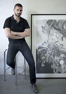 Marc Bauer in his Berlin studio October 2012