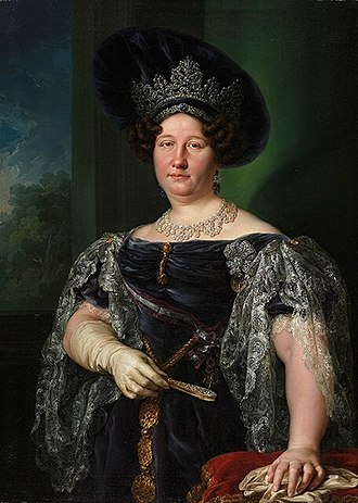 María Isabella of Spain - Portrait by Vicente López y Portaña