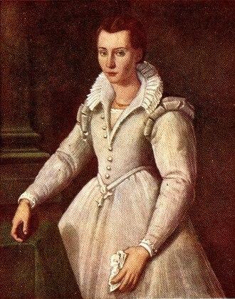 Mary Magdalene de' Pazzi - St. Mary Magdalene de' Pazzi at age 16 by Santi di Tito (1583)