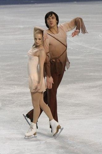 Maxim Trankov - Mukhortova and Trankov at the 2010 European Championships