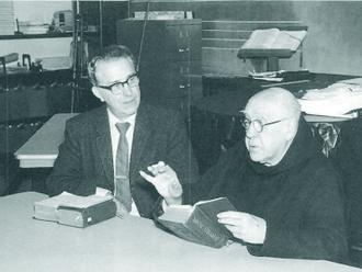 St. Paul's Choir School - Founder Theodore Marier in 1965, with Gregorian chant expert Dom Joseph Gajard