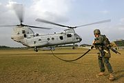 Marine CH-46E Helicopter Transport