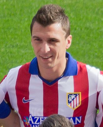 Mario Mandžukić - Mandžukić with Atlético Madrid in October 2014.