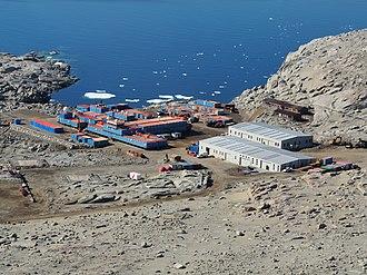 Zucchelli Station - Zucchelli Station at Terra Nova Bay, Antarctica (summer view)