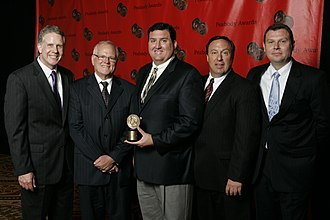 WFAA - Mark Smith and the WFAA-TV team at the 67th Annual Peabody Awards.