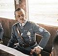 Marshal of Finland Carl Gustaf Emil Mannerheim having a cigar in a train during his visit in Germany, 1942. (49960472022).jpg