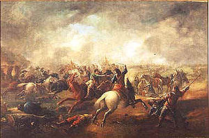 The Battle of Marston Moor, Gemälde von J. Barker