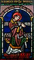Martyrdom of Saint Lawrence, stained glass, England ca. 1175-80 (5459159806).jpg