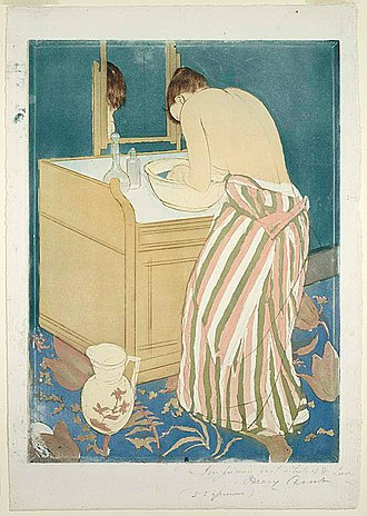 Aquatint - Mary Cassatt, Woman Bathing, drypoint and aquatint, from three plates, 1890-91