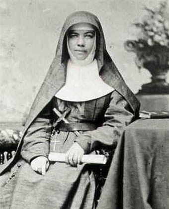 Saint Mary MacKillop, Australia's first saint. Through many centuries, Catholic women have founded religious institutes dedicated to the education of the poor. Mary MacKillop.jpg