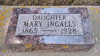 Mary Ingalls - Mary Ingalls' headstone at De Smet Cemetery, South Dakota