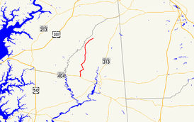 A map of the inland Eastern Shore of Maryland showing major roads.  Maryland Route 312 runs from near Hillsboro to Baltimore Corner.