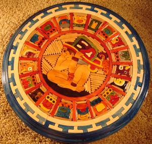 English: Mayan calendar created by a modern cr...