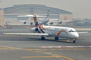 Kish Air - Kish Air McDonnell Douglas MD-82 at Dubai International Airport