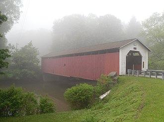 Bell Township, Clearfield County, Pennsylvania - McGees Mills Covered Bridge, the only covered bridge that crosses the West Branch Susquehanna River
