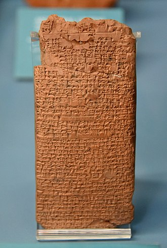 Babylonia - Medical recipe concerning poisoning. Terracotta tablet, from Nippur, Iraq, 18th century BC. Ancient Orient Museum, Istanbul