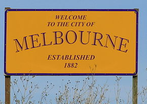 Melbourne Iowa 20090215 Welcome Sign.JPG