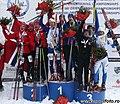 Men's Relay Prize Giving Ceremony Ski-EOC 2010.jpg