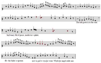 Ars cantus mensurabilis - An example of mensural notation