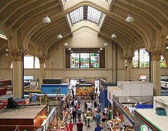 Ramos de Azevedo - Interior of the Municipal Market of São Paulo