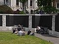 Merchant Seamen's Memorial - reliefs in the sunken garden 03.jpg