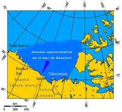 Carte de la mer de Beaufort.