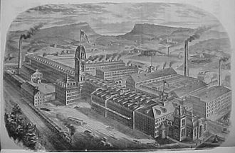Meriden, Connecticut - Meriden Britannia Co. electro-gold and silverplating factory, 1881)