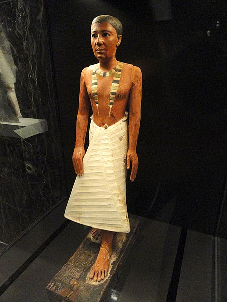 Fichier:Metjetji statue, Saqqara, Old Kingdom, probably late 5th Dynasty, c. 2375-2345 BCE - Nelson-Atkins Museum of Art - DSC08112.JPG