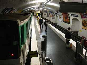 Porte de Champerret (Paris Métro) - Image: Metro Paris Ligne 3 station Porte de Champerret 02