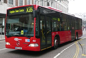 London Buses route X26 - Metrobus Mercedes-Benz O530 at Kingston in December 2008